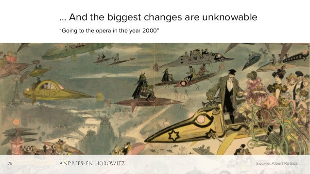 """76 … And the biggest changes are unknowable """"Going to the opera in the year 2000"""" Source: Albert Robida76"""