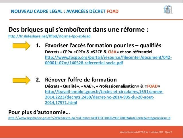 L'innovation et le numérique dans le contexte de la réforme - Webinaire 11/10/2016 Slide 3
