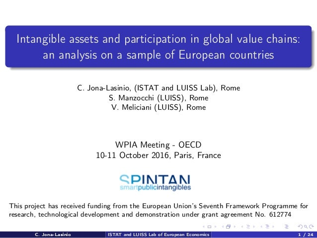 Intangible assets and participation in global value chains: an analysis on a sample of European countries C. Jona-Lasinio,...