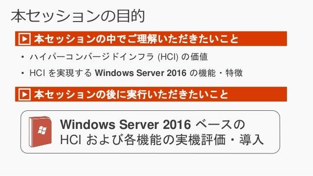 Windows Server 2016 で作るシンプルなハイパーコンバージドインフラ (Microsoft TechSummit 2016) Slide 3