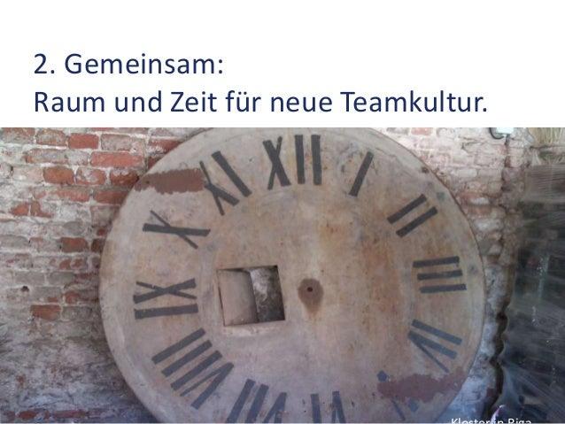 2. Gemeinsam: Raum und Zeit für neue Teamkultur. Veränderung