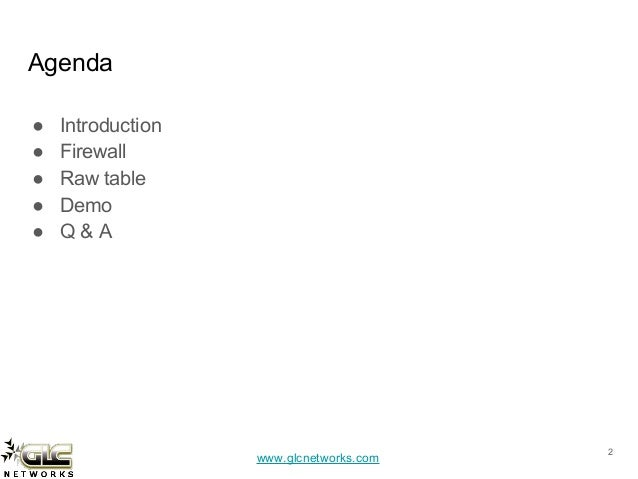 Mikrotik firewall raw table Slide 2