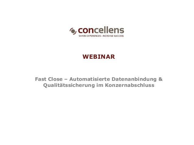 WEBINAR Fast Close – Automatisierte Datenanbindung & Qualitätssicherung im Konzernabschluss