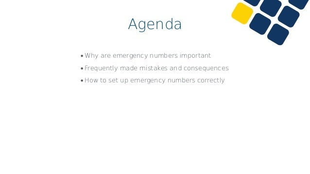 Emergency Numbers Why are they important?
