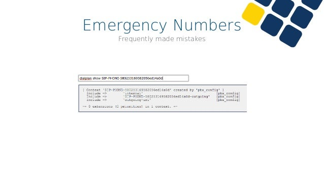 Emergency Numbers Frequently made mistakes