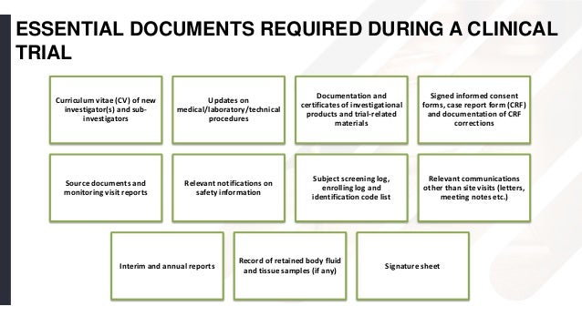 essential documents for the conduct of a clinical trial