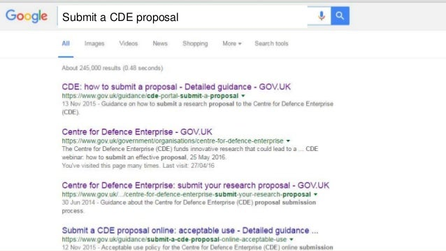 Tips On How To Submit A Great Proposal To The Centre For Defence Ente