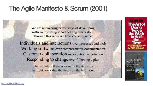 The Agile Manifesto & Scrum (2001) http://agilemanifesto.org