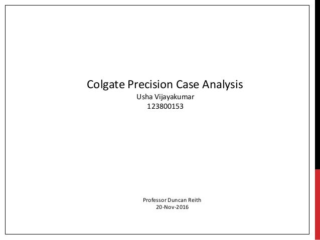 colgate case study Success colgate-palmolive company stories as was the case colgate_palmolive case studyindd created date.