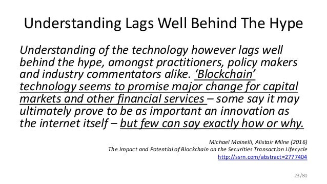 Understanding Lags Well Behind The Hype Understanding of the technology however lags well behind the hype, amongst practit...