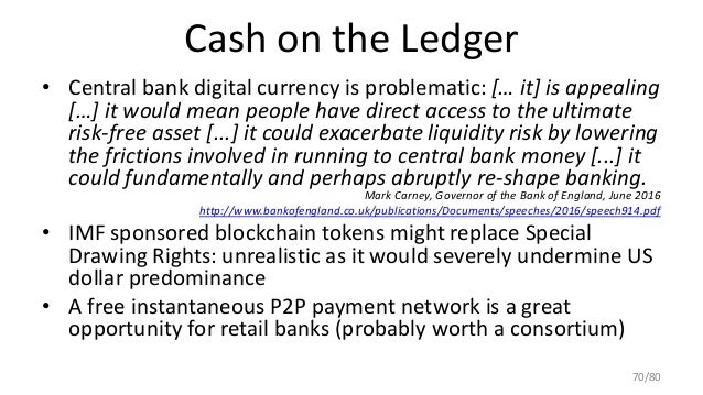 Cash on the Ledger • Central bank digital currency is problematic: [… it] is appealing […] it would mean people have direc...