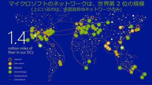 マイクロソフトのネットワークは、世界第 2 位の規模 (上にいるのは、米国政府のネットワークのみ)