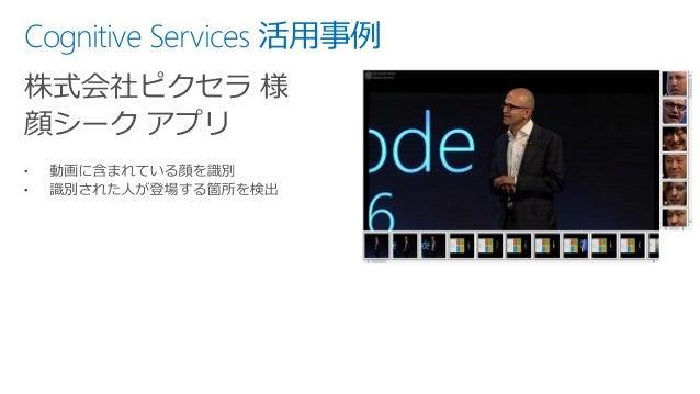 Cognitive Services 活用事例 株式会社ピクセラ 様 顔シーク アプリ