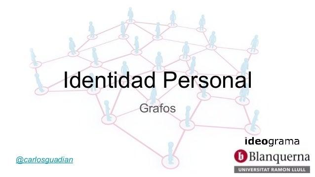 Identidad Personal Grafos @carlosguadian
