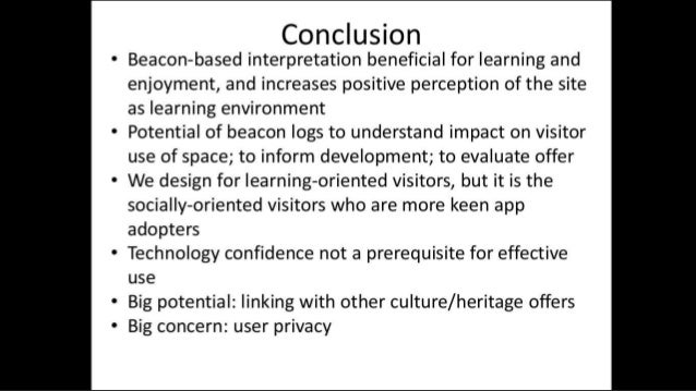 Creating a network of places: Culture Beacon for heritage tourism   Tom Pert