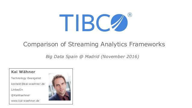 Kai Wähner Technology Evangelist kontakt@kai-waehner.de LinkedIn @KaiWaehner www.kai-waehner.de Big Data Spain @ Madrid (N...