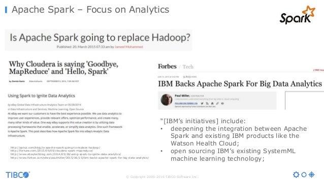 © Copyright 2000-2016 TIBCO Software Inc. Apache Spark – Focus on Analytics http://aptuz.com/blog/is-apache-spark-going-to...