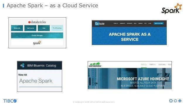 © Copyright 2000-2016 TIBCO Software Inc. Apache Spark – as a Cloud Service