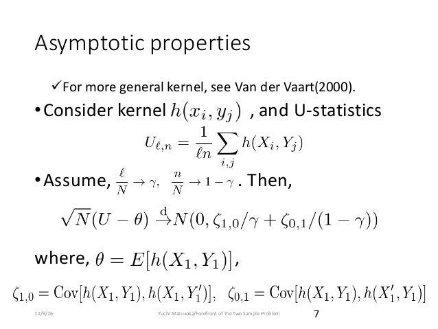 Forefront of the Two Sample Problem ~From classical to state-of-the-a…