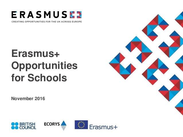 Erasmus+ Opportunities for Schools November 2016