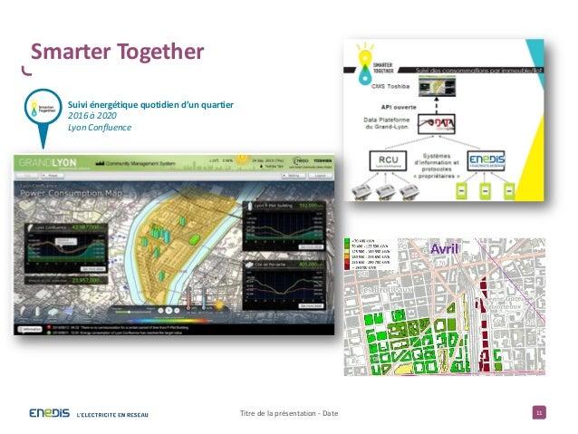 11 Smarter Together Titre de la présentation - Date Suivi énergétique quotidien d'un quartier 2016 à 2020 Lyon Confluence