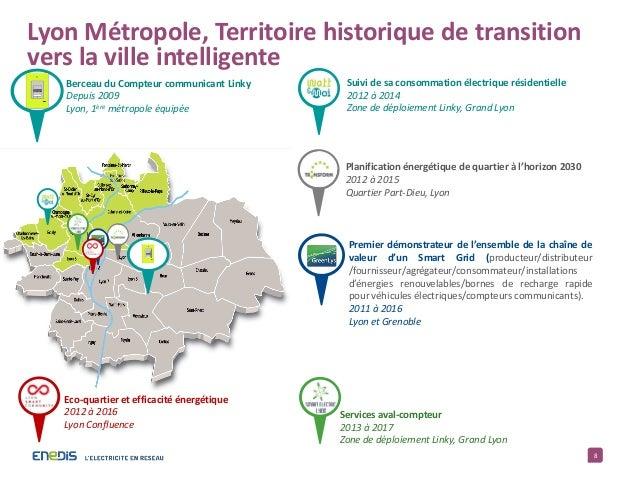 8 Lyon Métropole, Territoire historique de transition vers la ville intelligente Suivi de sa consommation électrique résid...