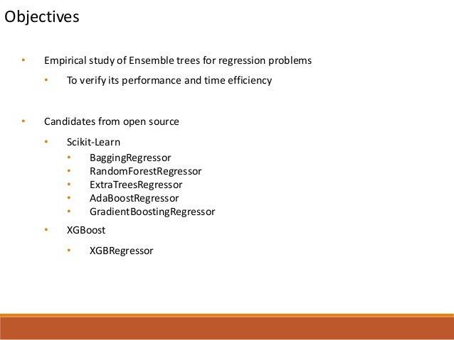 Comparison Study of Decision Tree Ensembles for Regression