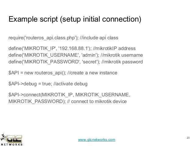 Mikrotik Script Examples