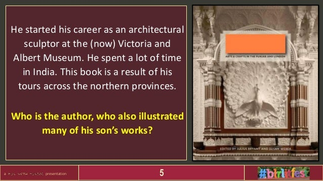 a presentation 5 He started his career as an architectural sculptor at the (now) Victoria and Albert Museum. He spent a lo...