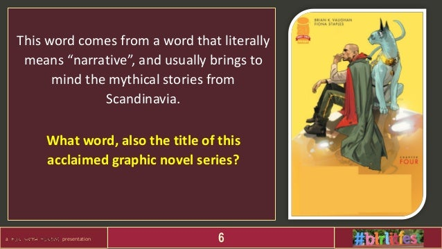 """a presentation 6 This word comes from a word that literally means """"narrative"""", and usually brings to mind the mythical sto..."""