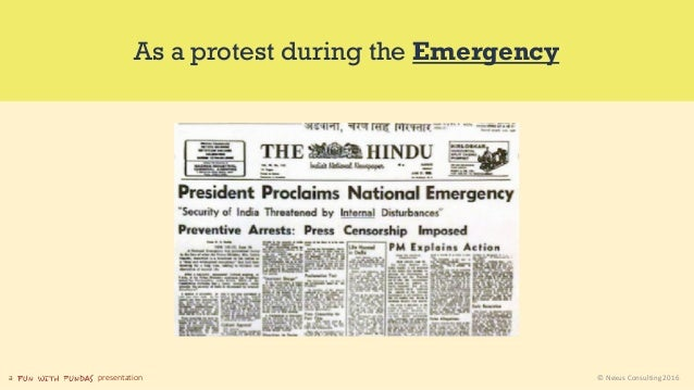 a presentation © Nexus Consulting 2016 As a protest during the Emergency