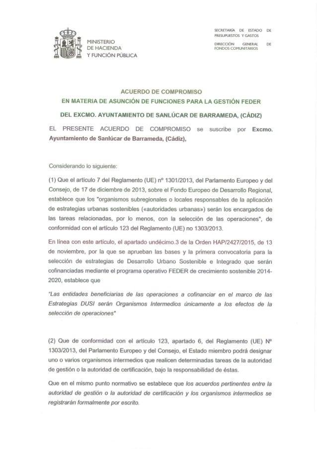 201612 el compromiso funciones Sanlúcar