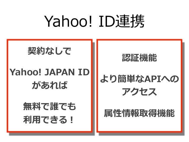 Yahoo! JAPAN ID利利⽤用率率率 ⽇日本国内の ソーシャルログイン率率率 https://www.feedforce.jp/release/4979/ ※2015年年5⽉月フィードフォース調査結果より 56.5%