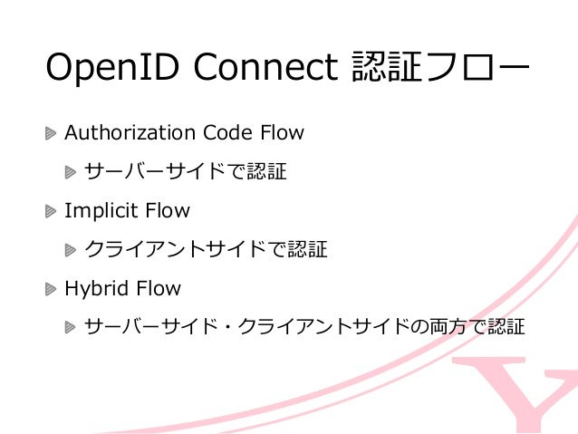 基本のフローをみてみよう 基本となる「Authorization Code Flow」を                                      ...