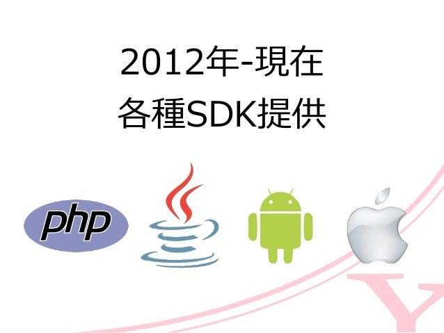 2012年年-‐‑‒現在  各種SDK提供