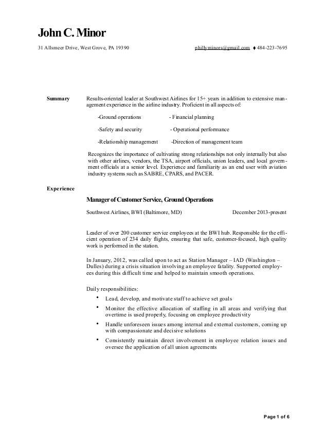 john minor resume 2016 ms word 2