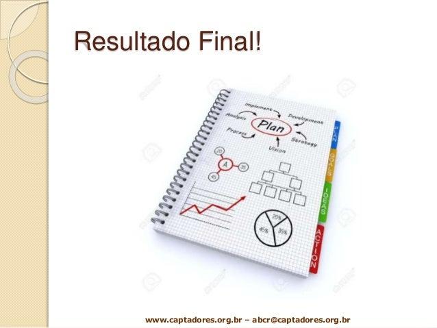 Resultado Final! www.captadores.org.br – abcr@captadores.org.br