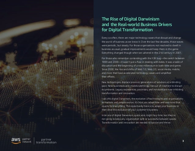 The Rise of Digital Darwinism and the Real-world Business Drivers for Digital Transformation Slide 3