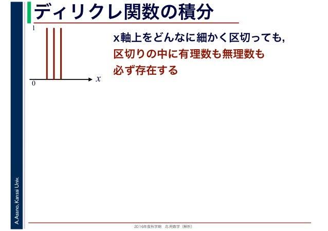 2016年度秋学期 応用数学(解析) 第15回 ルベーグ積分 (2017. 1. 19)
