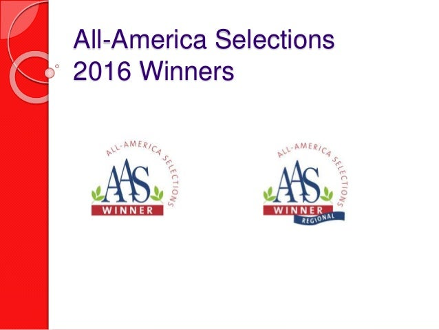 All-America Selections 2016 Winners