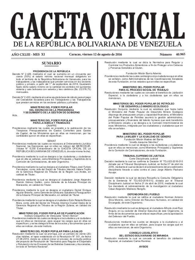 Resolución mediante la cual se dicta la Normativa para Regular y Controlar los Productos Alimenticios a fin de Proteger a ...