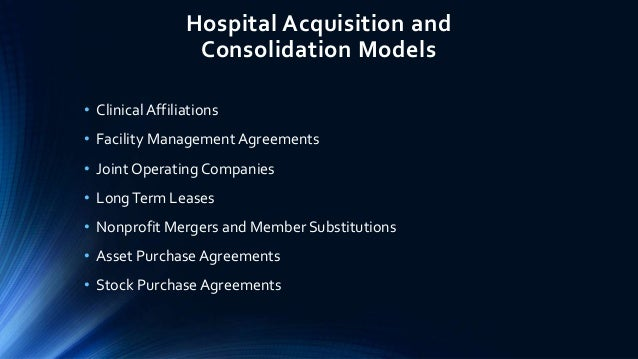 Acquisitions Of Community Hospitals By Not For Profit And Profit Syst