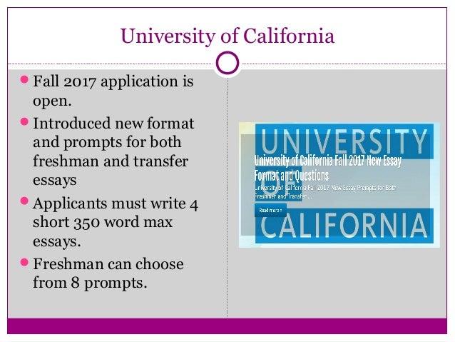university of california essay