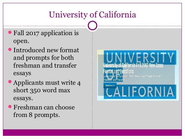 University of california essay prompts