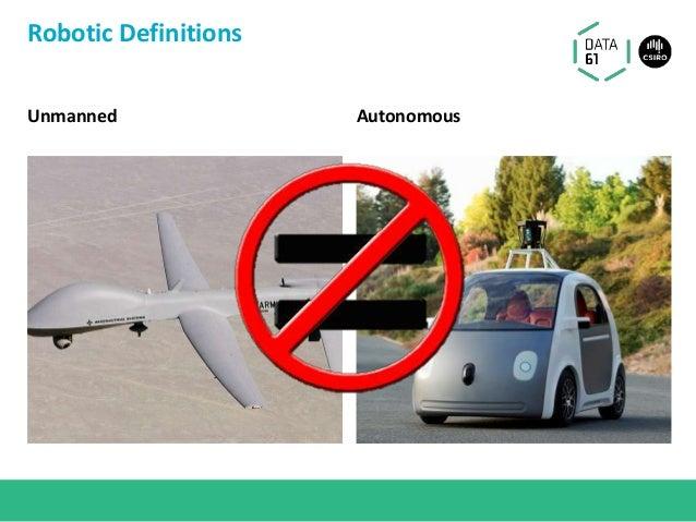 Unmanned Autonomous Robotic Definitions