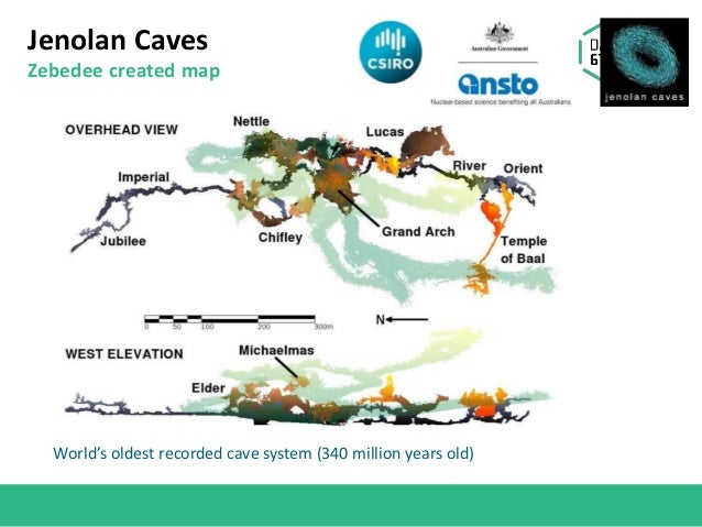 Jenolan Caves Zebedee created map World's oldest recorded cave system (340 million years old)