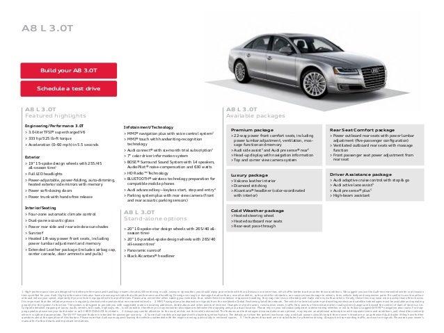 2016 Audi A8 Brochure Audi For Sale Orange County