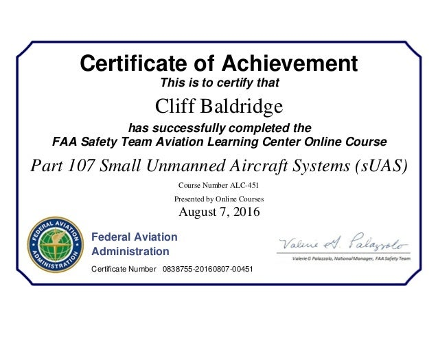Faa Drone Certificate Suas Small Unmanned Aircraft Systems