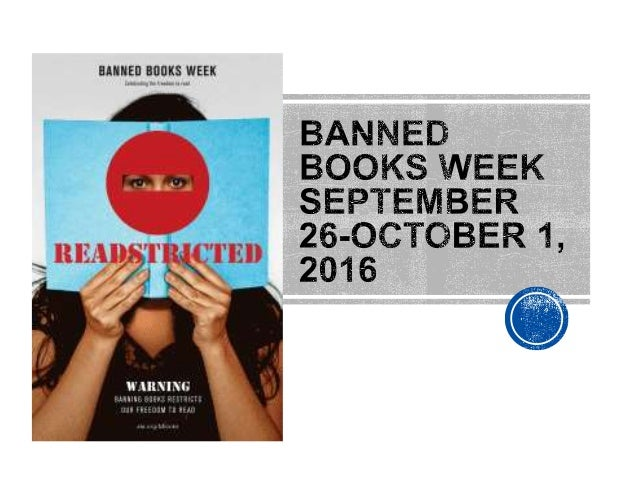Banning a book is when a person or group decides that a book is so inappropriate in some way that NO ONE should read the b...