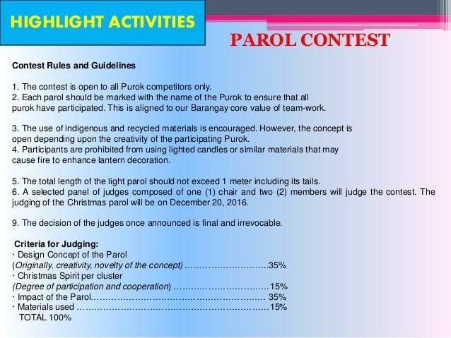 Exhibition Stand Judging Criteria : Barangay palaro mechanics